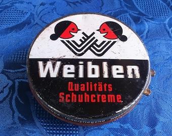Vintage German Shoe Polish Tin Weiblen Tin