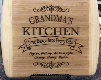 Custom Wood Cutting Board, Personalized Cutting Board, Laser Engraved Cutting Board, House Warming Gift, Wedding Gift, Valentine's Day Gift