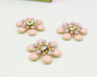 Enamel Painted Metal Flower Beads