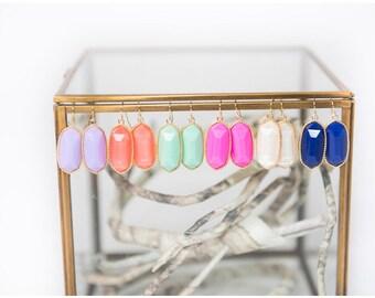 Beautiful Statement Earrings Color Drop Earrings.