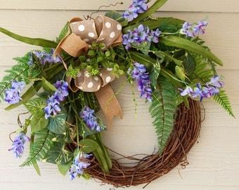 Easter Wreath, Spring Wreath, Summer Wreath, Mother's Day Wreath, Front Door Wreath, Everyday Wreath, Mantel Wreath