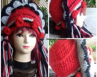 "Crochet Winter Hat""Snow Queen""/Crazy designs Hats/Handmade unique Hats ans Beanies"