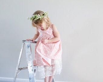 Spring Flower Dress. girls easter dress.