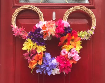Floral Mouse Ear Wreath