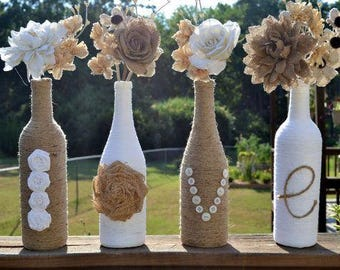 Twine Decorative Wine Bottles