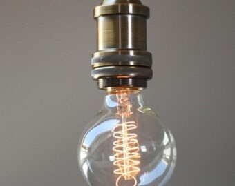 Round sphere edison spiral filament clear glass 40w 2000 hour bulb
