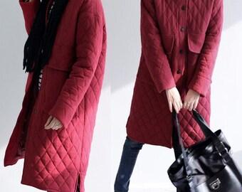 Winter Warm Quilted Women Coat Women Coat Jacket Cotton Women Warm Winter Coat  Custom Made