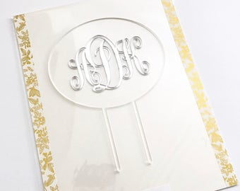 Monogram Floating Custom Cake Topper, Personalized Topper,Wedding Cake Topper,Cake Topper,Laser Cut,Birthday,Personalized,Cake Decoration