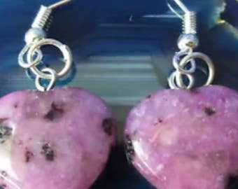 Purple Kiwi Jasper Dangling Earrings