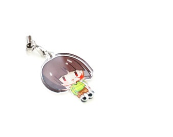 """Undertale Chara 1"""" Mini Acrylic Charm with Phone Strap (Double Sided Front & Back)"""
