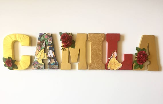 Beauty And The Beast Letters Home Decor Party Decorations
