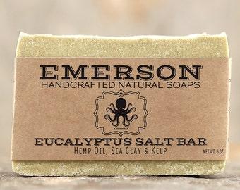 Eucalyptus Hemp Sea Salt Soap • Vegan Soap, All Natural Soap, Handmade Soap, Cold Process Soap, Palm Free Soap, Hemp Soap