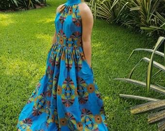 Efua African Print Maxi Dress/ Ankara Dress / Ankara Gown