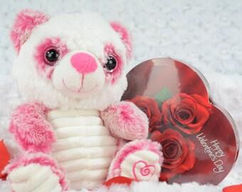 Panda Valentine Stuffy - Valentine's Day Gift - Personalized Gift - Panda Valentine