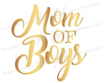 Mom of boys SVG, DXF, EPS, mom of boys clipart, mom life svg cuttables, clip art, Cricut, Silhouette, Cutting File