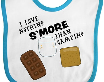 I Love Nothing S'More than Camping Baby Bib by Inktastic