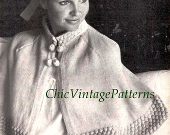 Free knitting pattern bed cape durgapurfo for knit cape pattern etsy dt1010fo