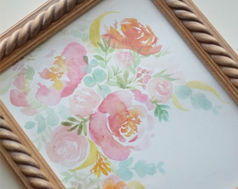 Whimsy Floral Art Print