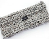 Knit Headband Earwarmer 9 Colours Available. Mens Ear Warmer. Chunky Grey Tweed Wool Blend. Mens, Womens, Kids. Sizes S/M/L/XL HoBo Handmade