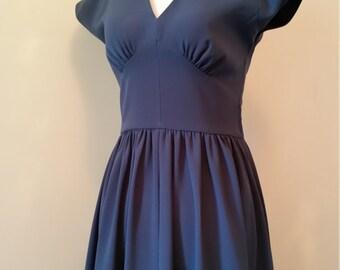 1940's style Crepe Dress