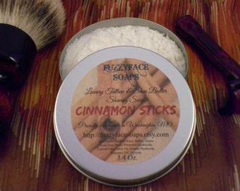 CINNAMON STICKS Luxury Tallow & Shea Butter Shaving Soap Limited Edition Seasonal