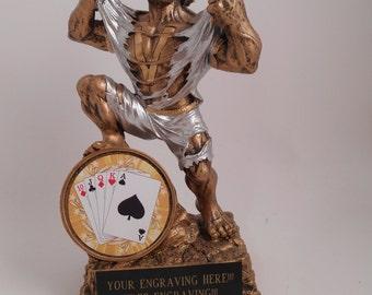 Poker/Texas Hold Em Hulk Monster Individual Trophy Award - FREE ENGRAVING!!!!