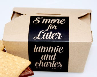 Smore Love Favor, S'mores, Favor Box, Smore Favor Box, Smore Table, To Go Box, Dessert Favor, Dessert Sign, Smore Favor Label