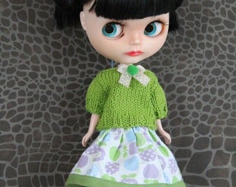 Apparel/sweater/skirt for Blythe, Pullip, Licca, Tangkou, Momoko doll/dolls