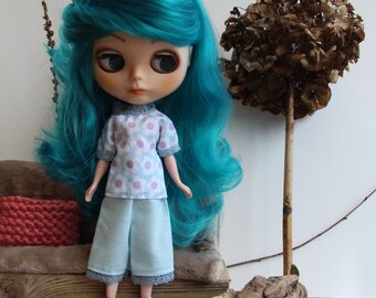 Pants/trouser/blouse/shirt for Blythe, Tangkou, Barbie, Pullip doll/dolls