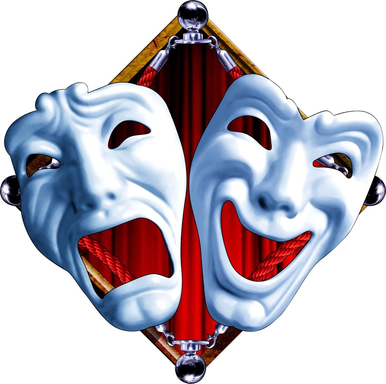 Drama mask decal full color drama mask decal drama sticker