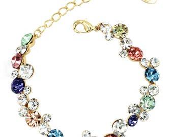 Exquisite colorful swarovski crystal bracelet