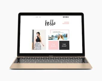 Premade Website Template, Website Design, Wix, Website, Theme, Template, Ecommerce Website, Online Store, Blog, Custom Website