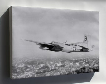 Canvas 24x36; Douglas B-26B Invader B-26 3Rd Bomb Group, Korean War 1951
