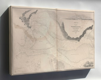 Canvas 24x36; Map Mouth Of Columbia River Oregon Territory 1841