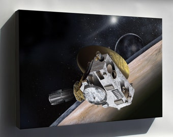 Canvas 24x36; New Horizons At Pluto