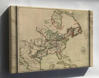 Canvas 24x36; Franquelin'S Map Of Louisiana 1684