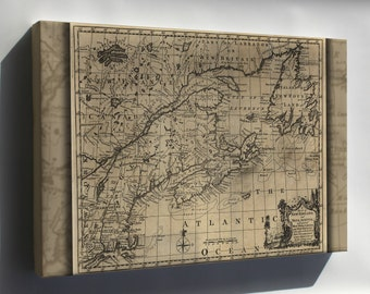 Canvas 24x36; Map Of New England, And Nova Scotia 1758