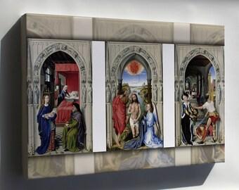 Canvas 24x36; Altar Of St. John By Rogier Van Der Weyden