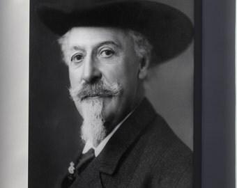 Canvas 24x36; William F. Cody (Buffalo Bill).  C.1911