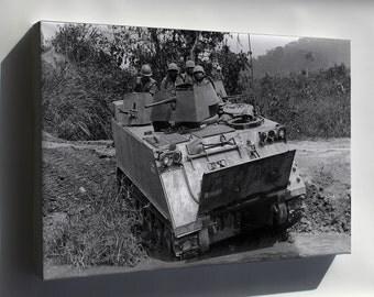 Canvas 16x24; M113 Armored Personnel Carrier Vietnam 1966
