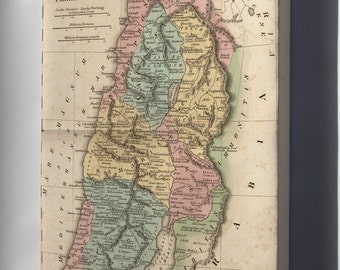 Canvas 16x24; Map Of Israel Palestine Holy Land In Antiquity 1826