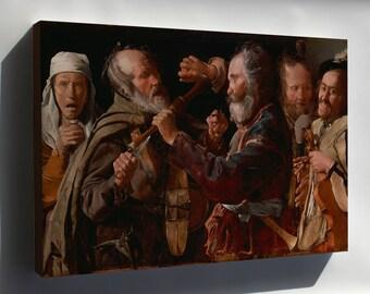 Canvas 16x24; The Musicians Brawl By Georges De La Tour 1625