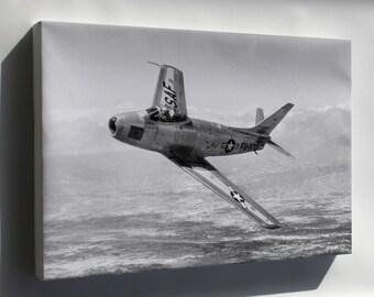 Canvas 16x24; F-86 Sabre
