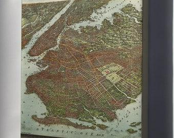 Canvas 16x24; Map Of Brooklyn New York City 1904
