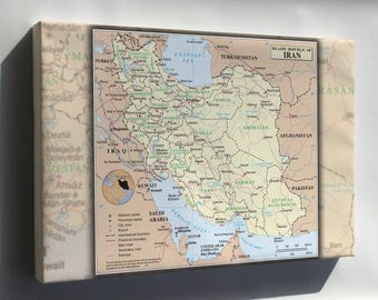 Canvas 16x24; Iran United Nations Map