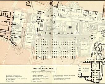 16x24 Poster; Roman Forum Original Archeology Sketch Of The Roman Forum