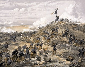 16x24 Poster; Attack On The Malakoff By Wwilliam Simpson Battle Of Malakoff Crimean War