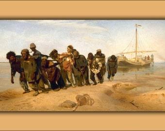 16x24 Poster; Volga River Boatmen (1870-1873) By Ilia Efimovich Repin (1844-1930) -