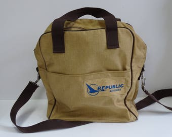 Republic Air Lines Messenger Bag / Carry-On Bag