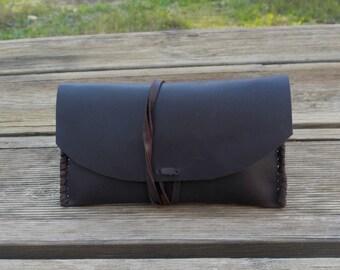 Tobacco leather case,  leather cigarette case, brown leather, tobacco bag, tobacco case, cigarette case, leather case,